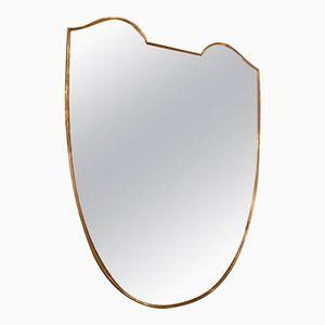 Italian Brass Mirror, 1960s