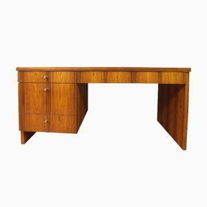 German Desk with Rosewood Veneer and Drawers, 1970s