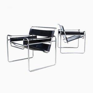 B3 Wassily Stühle von Marcel Breuer für Gavina, 2er Set