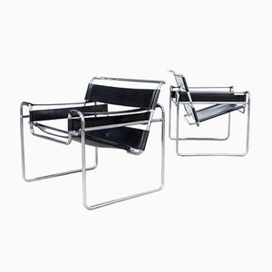 Vintage B3 Wassily Chairs by Marcel Breuer for Gavina, Set of 2