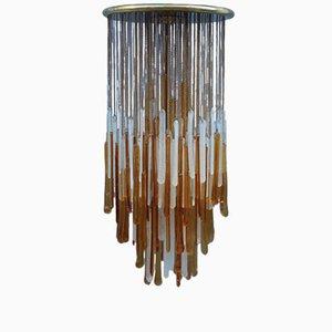 Glas Hängelampe von Mazzega, 1960er