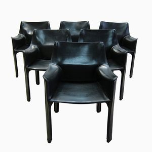 CAB 413 Chairs by Mario Bellini for Cassina, 1980s, Set of 6