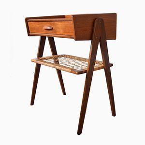 Dänischer Nachttisch aus Teak, 1950er