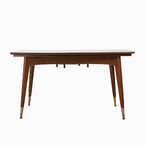Walnut Veneer Coffee or Dining Table, 1950s