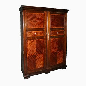 Vintage English Mahogany Wardrobe from Compactom, 1960s