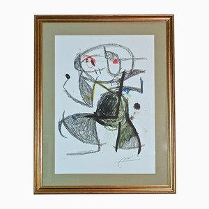 Lithographie Signé à la Main Vintage par Joan Miro
