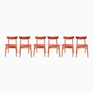 Dänische Teak Stühle, 1960er, 6er Set