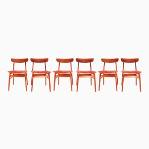 Danish Teak Chairs, 1960s, Set of 6