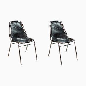 Les Arcs Stühle von Charlotte Perriand für Cassina, 1968, 2er Set