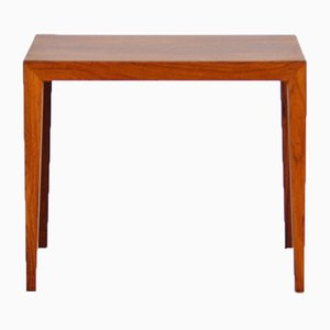 Mid-Century Rosewood Side Table by Severin Hansen for Haslev Møbelsnedkeri