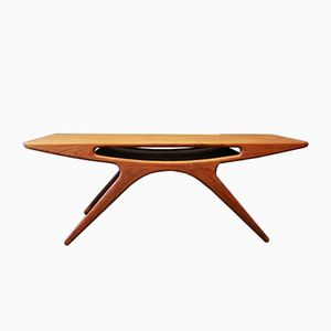 The Smile Teak Coffee Table by Johannes Andersen for CFC Silkeborg, 1960s