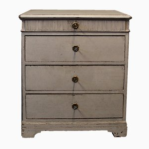 Small Grey Painted Chest of Drawers, 1880s
