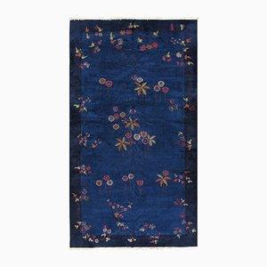 Handgeknüpfter Blauer Chinesischer Teppich, 1920er
