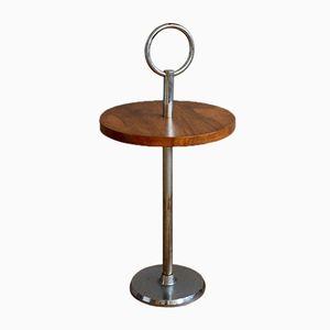 Art Deco Veneered Walnut Side Table, 1930s