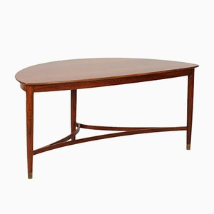 Danish Triangular Coffee Table, 1950s