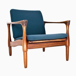 Dutch Teak Lounge Chair from De Ster Gelderland, 1960s