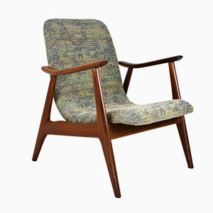 Mid-Century Teak Lounge Chair by Louis Van Teeffelen for Webe