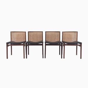 Scandinavian Rosewood Dining Chairs, 1960s, Set of 4