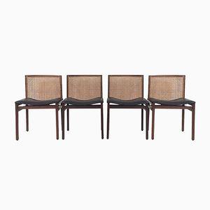 Skandinavische Palisander Esszimmerstühle, 1960er, 4er Set