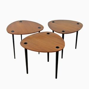 Nesting Tables by Pierre Cruège for Formes, 1950s, Set of 3