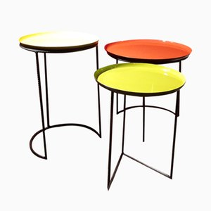 Multicolored Tables, 1980s, Set of 3