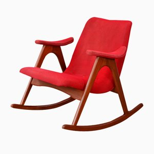 Sedia a dondolo di Louis van Teeffelen per Wébé, anni '60