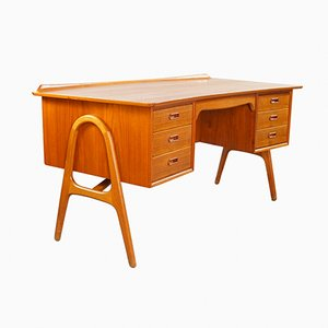 Vintage Teak Schreibtisch von Svend Aage Madsen für Sigurd Hansen Møbelfabrik