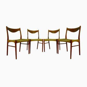 Dänische Teak Stühle von Peder Kristensen für Glyngore Stolefabrik, 1960er, 4er Set