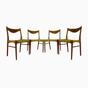 Danish Teak Chairs by Peder Kristensen for Glyngore Stolefabrik, 1960s, Set of 4
