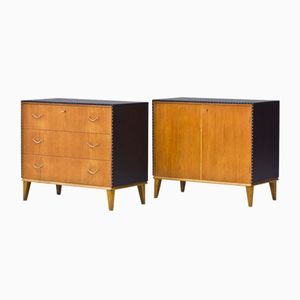 Matching Swedish Chest and Cabinet, 1940s