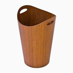 Teak Paper Basket by Servex, 1950s