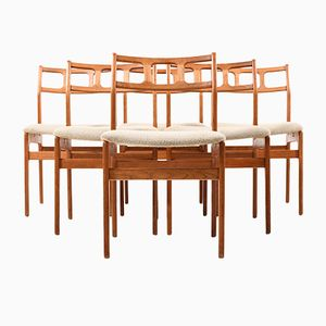 Danish Teak Dining Chairs, Set of 6