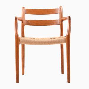 Vintage 67 Stuhl aus Teak von Niels O. Møller für J.L. Møllers