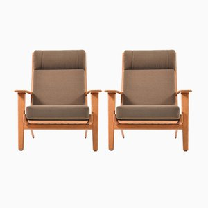 Vintage GE-290 Highback Lounge Chairs in Teak by Hans J. Wegner for Getama, Set of 2