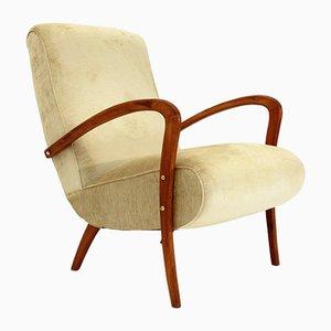 Italian Velvet Armchair, 1940s