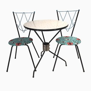 Vintage Dining Set with 1 Table and 2 Chairs