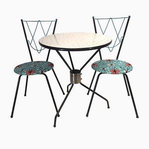 Vintage Esszimmerset mit 1 Tisch und 2 Stühlen