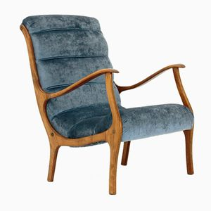 Mitzi Velvet Armchair by Ezio Longhi for Elam, 1950s