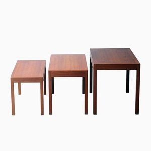 Vintage Nesting Tables by Hans J. Wegner for Andreas Tuck