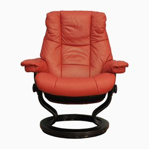 Vintage Red Stressless Lounge Chair from Ekornes