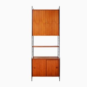 Teak Veneer Modular Wall Unit from WHB, 1960s