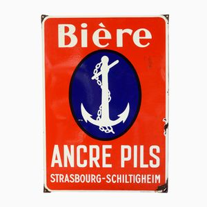Enamelled Wall Plate by Émaillerie Alsacienne Strasbourg Hoenheim for Ancre Pils