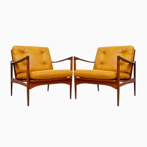 Kandidaten Easy Chairs by Ib Kofod-Larsen for OPE, 1960s, Set of 2