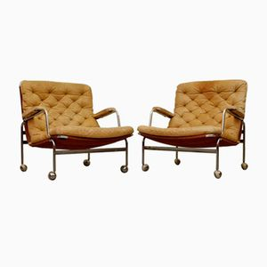 Karin Easy Chairs by Bruno Mathsson for Dux, 1960s, Set of 2