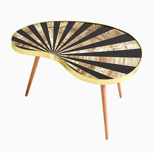 Vintage Striped Kidney Coffee Table, 1960s