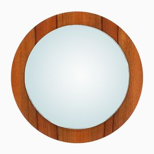 Walnut Veneer Framed Wall Mirror, 1960s