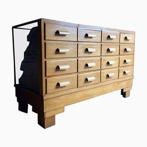 Oak Haberdashery Counter from Yugin & Sons, 1940s