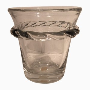 Vintage Glass Champagne Bucket from Daum