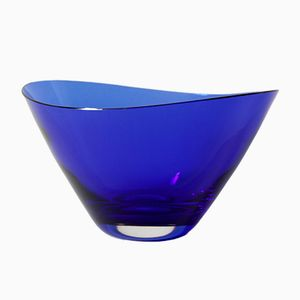 Glass Bowl by Konrad Habermeier for Gralglas, 1950s