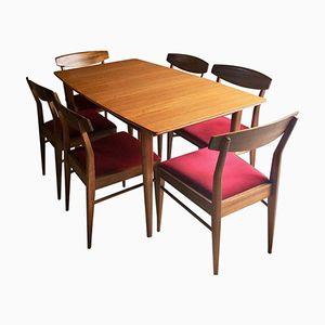 Ausziehbarer Tisch aus Massiver Eiche und 6 Stühle von McIntosh, 1970er